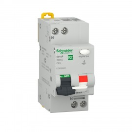 Easy9 RCBO 1P+N 4500 AC 30mA C 25A