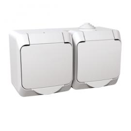 WDE000523 Schneider Electric Cedar Plus - double socket-outlet sideE - 16A, shutters, white