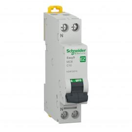 Schneider EZ9P32610 MCB 1P+N 10A Schneider Electric Easy9, 4500 A, C