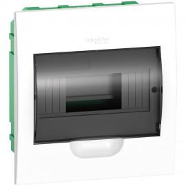 EZ9E108S2F Schneider Easy9 - flush enclosure 8 modules - smoked door - with E/N term.blocks