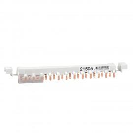 Schneider 21507 Acti9 - comb busbar - 3L+N balanced - 9 mm pitch - 24 modules - 80A