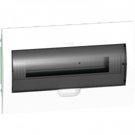 EZ9E118S2F Schneider Easy9 - Flush Enclosure 18 Modules - Smoked Door - With E/N Term.Blocks