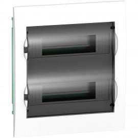 EZ9E212S2F Schneider Easy9 - Flush Enclosure 24 Modules - Smoked Door - With E/N Term.Blocks