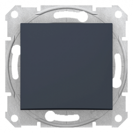 SDN0100170 Sedna - 1pole switch - 10AX without frame graphite