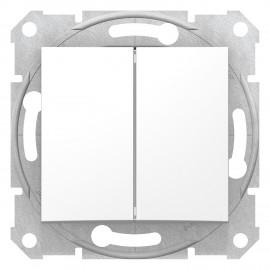 SDN0300121 Schneider Inrerupator dublu 10AX 250V c.a. fără rama SEDNA Schneider Electric, alb