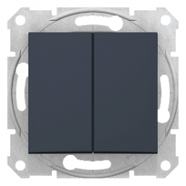 SDN0300170 Sedna - 1pole 2-circuits switch - 10AX without frame graphite