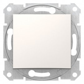 SDN0400123 Sedna - Comutator 1 Pol 2 -Cai - 10Ax Fara Cadru Crem