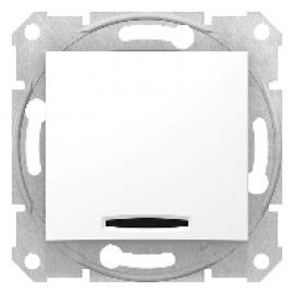 SDN0201221 Schneider Sedna - Comutator 2 Poli - 16Ax Lumina Indicator, Fara Cadru Alb