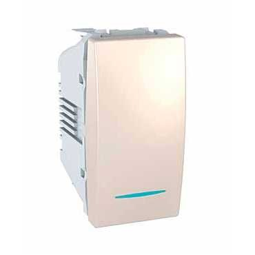 Intrerupator simplu cu LED Unica Basic/Plus/Allegro, ivoar
