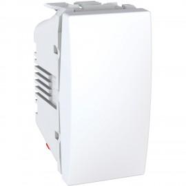 Unica - rocker switch - 2-way - 10 AX 250 VAC - 1 m - white