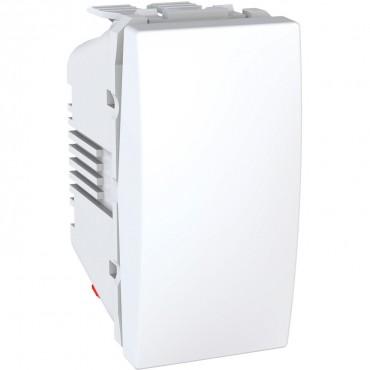 Unica - rocker switch - intermediate - 10 AX 250 VAC - 1 m - white