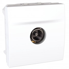 MGU3.462.18 Unica - SAT single shield socket - male individual - white