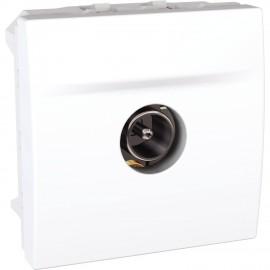 Unica MGU3.464.18 - SAT single shield socket - male terminal - white