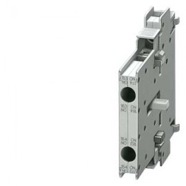 AUX. SWITCH BLOCK, 1 NO+1 NC, DIN EN50012, LATERALLY, 10 MM SCREW CONNECTION, SIZE S3...S12 FOR MOTOR CONTACTORS, 2-POLE