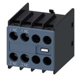 AUX. SWITCH BLOCK , 2NC COND. PATHS: 1NC, 1NC, F. CONT. RELAYS A. MOTOR CONT. SZ S00 AND S0, SCREW TERMINAL SIEMENS