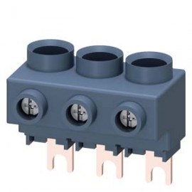 3-PHASE INFEED TERMINAL, FOR 3-PHASE BUSBARS, CONNECTION FROM ABOVE, SIZE S00/S0 Siemens