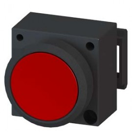 3SB3001-0AA21 Siemens ILLUMINATED PUSHBUTTON WITH FLAT BUTTON ILLUMINABLE INCL. HOLDER FOR 3 ELEMENTS WITH HOLDER RED