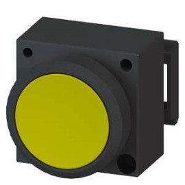 3SB3001-0AA31 Siemens ILLUMINATED PUSHBUTTON WITH FLAT BUTTON ILLUMINABLE INCL. HOLDER FOR 3 ELEMENTS WITH HOLDER YELLOW