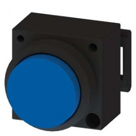 3SB3001-0BA51 Siemens ILLUMINATED PUSHBUTTON WITH RAISED BUTTON ILLUMINABLE INCL. HOLDER FOR 3 ELEMENTS WITH HOLDER BLUE