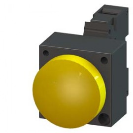 INDICATOR LIGHT WITH SMOOTH LENSE ILLUMINATED WITH INTEGRATED LED 230V AC SCREW TERMINAL WITH HOLDER YELLOW Siemens