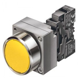 ILLUMINATED PUSHBUTTON MOMENTARY CONTACT TYPE WITH FLAT BUTTON ILLUMINATED WITH INTEGRATED LED 24V AC/DC SCREW TERMINAL, 1NO+1NC WITH HOLDER RED SOLVENT-RESISTANT NON INSCRIBABLE WITH LASER Siemens