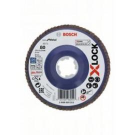 Discuri de șlefuire evantai X-LOCK,  placă din plastic, Ø 125 mm, G 80, X571, Best for Metal