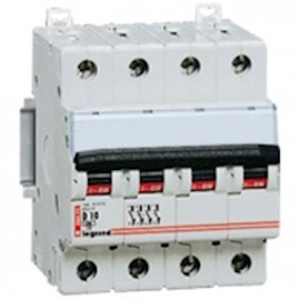 Siguranta automata/ Disjunctor 4P 10A D 15kA Legrand DX 006671