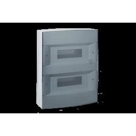 Tablou electric/ Cofret aparent 2 randuri x 12 module Legrand Ekinoxe 601084, usa transparenta