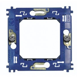 Support for round cover plates, square and Living International - fixing with screws - 2 modules Bticino Legrand LN4702