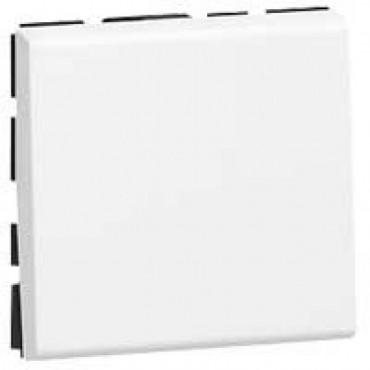 077040 LEGRAND MOSAIC Push-button Mosaic - 6 A 250 V~ - 2 modules - white