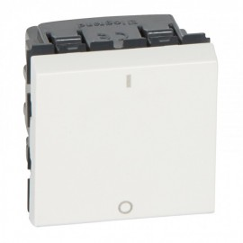 077050 LEGRAND MOSAIC 2-pole switch Mosaic - 16 AX 250 V~ - 2 modules - white