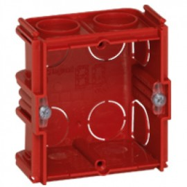 080141 LEGRAND MOSAIC Flush mounting box Batibox - square 1 gang depth 40 mm - masonry