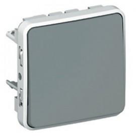 Switch Plexo IP55 - 2-way - 10 AX 250 V~ - modular - grey