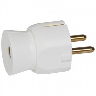 2P+E plug - 16 A - German standard - plastic straight outlet - white - bulk Legrand 050315